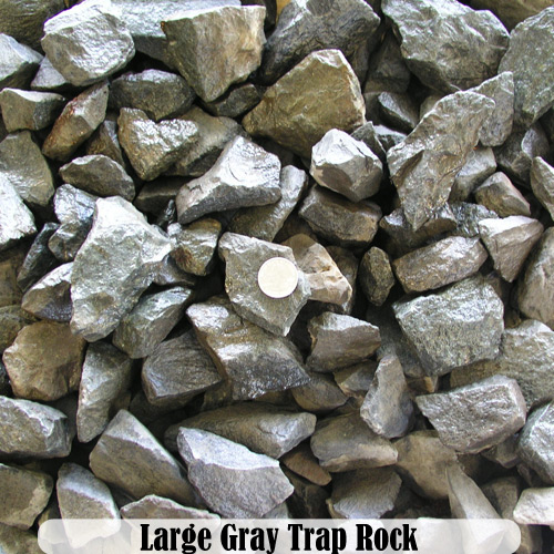 Rocks dirt mulch more innovative landscape products for Grey rocks for landscaping